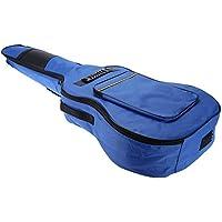 "Mochila - SODIAL(R) 41"" Guitarra Mochila Hombro Correas Bolsillos 5 mm Algodon Acolchada Caja Bolso del carruaje Azul"