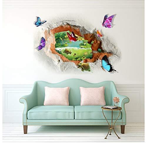 ZBYLL Adhesivo De Pared La Pared 3D Pegatina Secuencia De Mariposas Fuera del Agujero La Decoración del Hogar Puede Ser Retirado