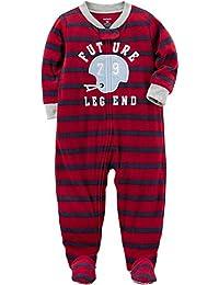 Carter's Schlafanzug 92/98 Fleece (US Größe 3 t) Einteiler Junge dunkelrot warm Reißverschluss
