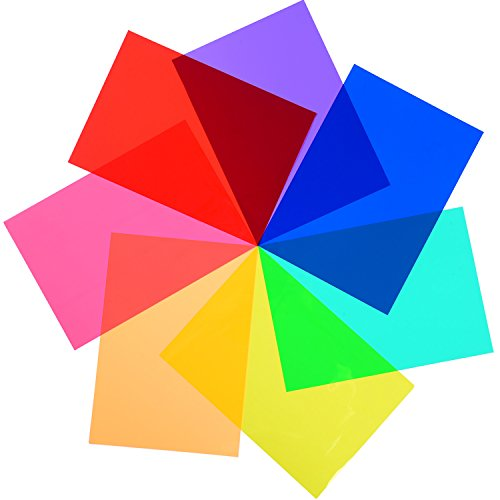 14 Stück Gelfilter Korrektur Licht Filter Overlays Transparente Farbfolie Kunststoffplatten, 11,7 x 8,3 Zoll, 7 Farben
