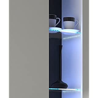 Glaskantenbeleuchtung 4 Set LED Clips Beleuchtung Glasbeleuchtung Glasklammer