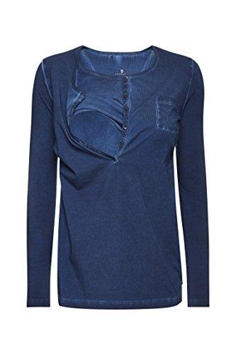 bellybutton Damen Langarmshirt Blau (peacoat blue 3470)