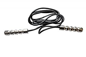 Senshi Japan Deluxe Leather Skipping rope Jump Rope Speed Rope With Weighted Stee Handles