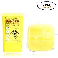 Pawaca Kanülenabwurfbox für Biogefährdungen, scharfe Nadeln, Entsorgungs-Container, durchstoßbeständig. 3pcs Yellow preisvergleich bei billige-tabletten.eu