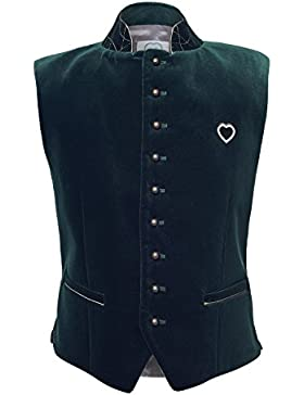 GaudiHerz Trachtenweste in grün - Das Gilet ist eine Designer-Tracht und der Samt-Stoff ist in Top-Qualität für...