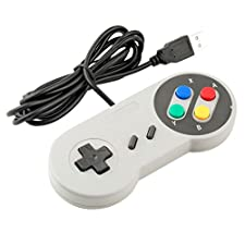 Childhood Retro USB Controller PC Gamepad pour Super Famicom Nintendo SNES style PC MAC