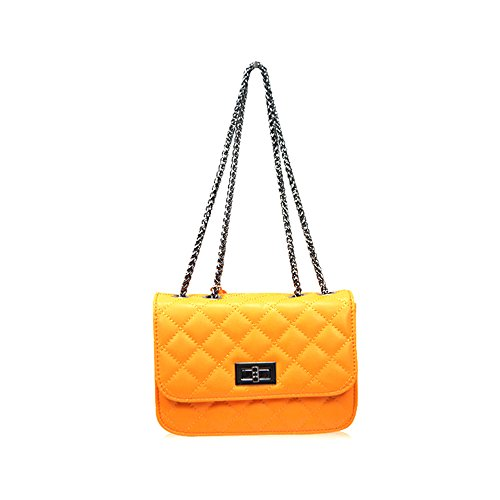 Sheli Gilrs Genuine Leather Miniature Cross-Body Quilted Chain Bag for Phone Summer Travel Dating Work (Bag Jessica Leder Hobo)