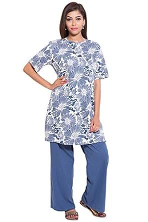 9teenAGAIN Hosiery Printed Night Suit Set 1SS16 0010 NS1 P  Amazon ... 8cc51850e