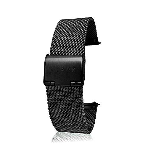 Uhrenarmband rosegold 18mm mit Schnellverschluss |Mesh Milanaise Metall Armband Uhren Ersatzuhrenarmband | wechseln ohne Werkzeug