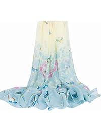 Glitterbugs Womens 100% Mulberry Silk Scarf Long Satin Scarf Fashion Designer Scarf Lightweight Gift,26-200cm*145cm