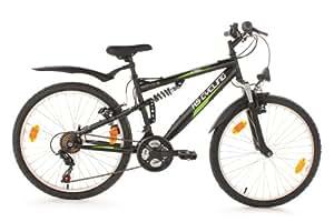 KS Cycling enfants vélo vélo pour enfant CRM RH 41, noir, 24, 883B