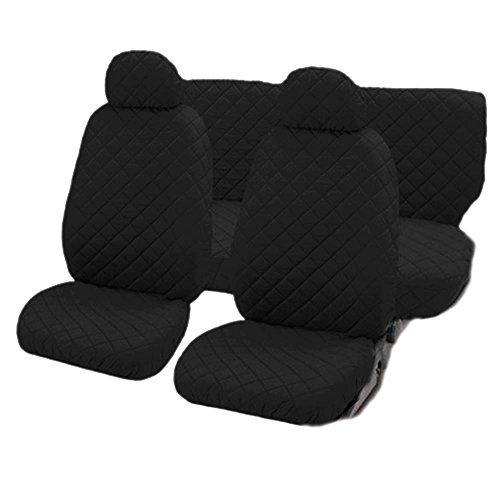 Lupex shop trap_n coprisedili universali per auto medio-piccole con schienale posteriore unito, nero, set di 6
