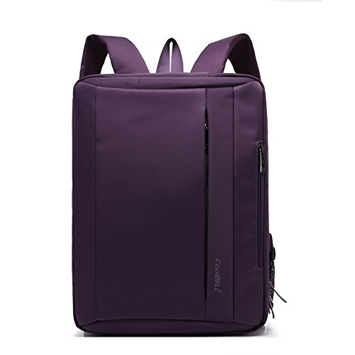 Plover Zaini Porta Computer 17 Pollici Resistente All'acqua Affari Casual uomini Laptop Notebook Borsa a tracolla Business (Viola)