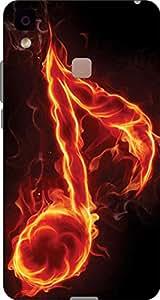 Cliche Printed Back Cover For Vivo V3 Max
