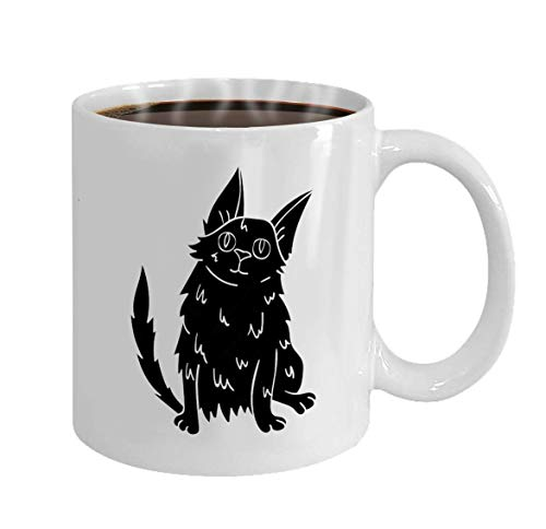 Mug Personalized - Coffee Mug - Personalized Gifts- 11oz White Tea Cup Turkish Angora icon Black Style Isolated White Back -
