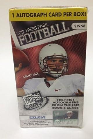 2012 Press Pass Football 3-Pack Box - ONE AUTOGRAPH CARD PER BOX