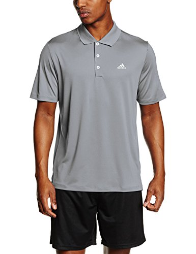 adidas Herren Poloshirt Performance Logo Chest, Midgrey, XXL, AE4764 (Logo Shirt Golf)