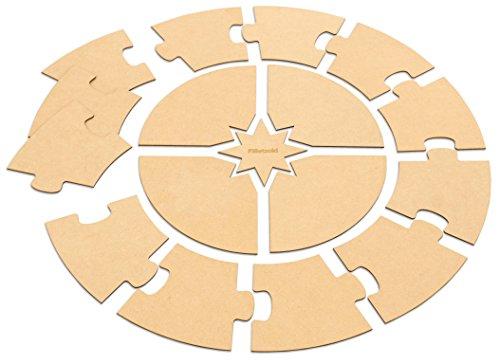Betzold 70812 - Montessori-Material Montessori-Jahreskreis Holz zum Selbstgestalten Ø 70 cm, Kinder-Krippe Kindergarten
