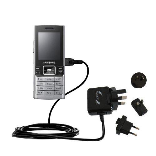 10W Gomadic Steckdosen-Ladegerät AC kompatibel mit Samsung SGH-M200 mit Energiesparmodus und TipExchange