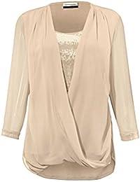 Guido Maria Kretschmer Designer-2-in-1 Bluse mit Pailletten sand Größe 42