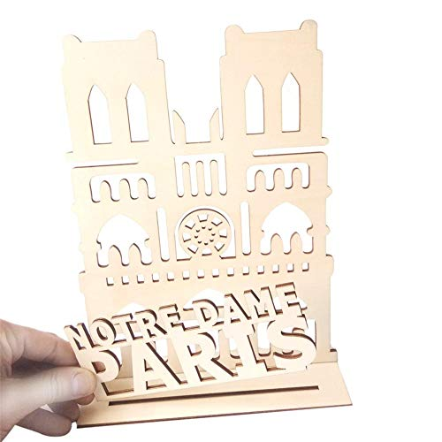 Juman634 Brief Handwerk Sperrholz Notre Dame de Paris 3D Dekoration DIY Handwerk Ornamente