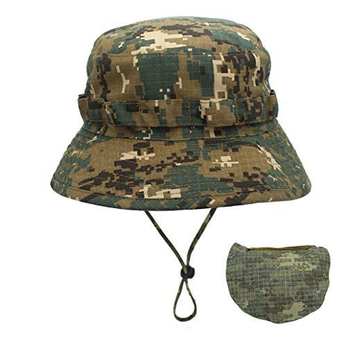 AROVON Eimer Hut Digital Camouflage Armee Hut Outdoor Camping Männer Short Brim Hut Sonnencreme Bionic Jungle Hut (Armee-digital-hut)