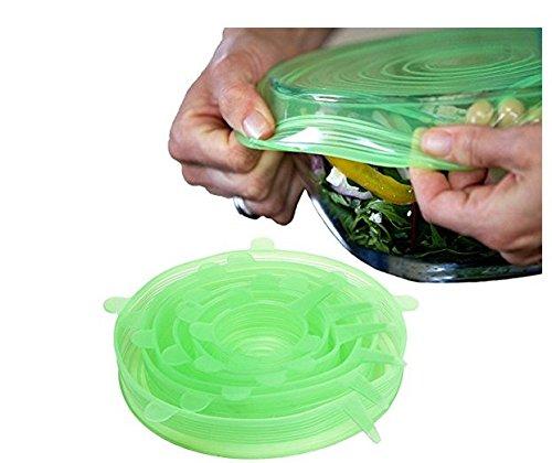 ULOOIE - Tapas elásticas Silicona sartenes Verde