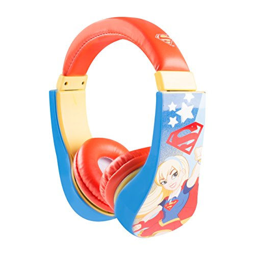 Barbie Kinder-Kopfhörer, über dem Ohr liegend, sicher, mit Lautstärke-Begrenzung (30359) Supergirl