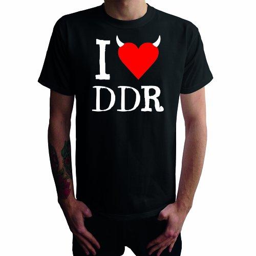 I don't love DDR Herren T-Shirt Schwarz