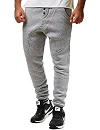 Young & Rich Herren Jogginghose Sweatpants 33-3311, Grösse:L;Farbe:Weiß