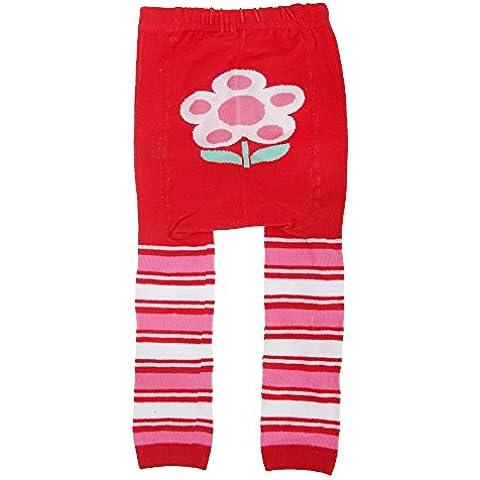 Bambina - Leggings con simpatico disegno e brillantini