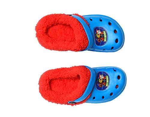 Theonoi - Zuecos de Invierno para niños, con Piel de Pelo, Zapatillas de Estar por casa, Color, Talla 30/31 EU