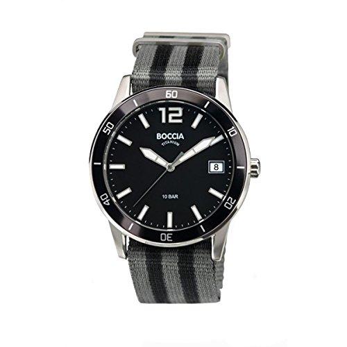 Boccia Reloj Unisex de Analogico con Correa en Tela 3594-01