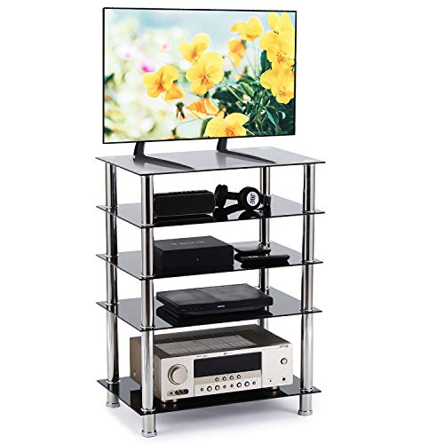 RFIVER TV Stand 5-Tier Audio Rac...