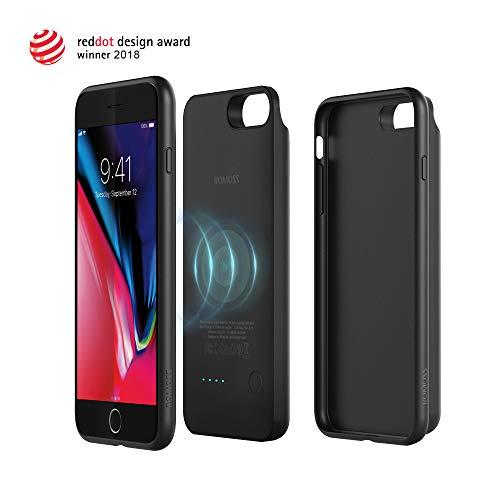 Romoss [Red Dot Design Award Gewinner 2018] 4 in 1 Akku Hülle,Handyhülle Kompatibel mit Phone 8 Plus, Kabelloses Qi Induktive Ladestation Kompatibel mit Galaxy S9, 5000mAh Externer Powerbank
