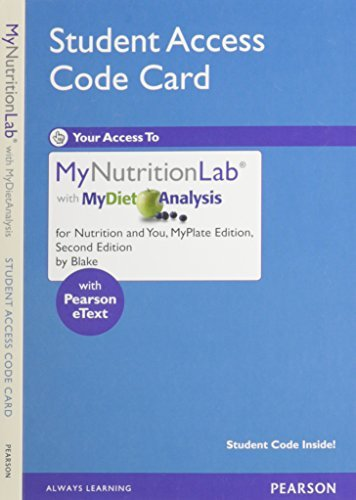 New Mynutritionlab with Mydietanalysis with Pearson Etext - Valuepack Access Card - For Nutrition and You by Joan Salge Blake (2011-12-01)