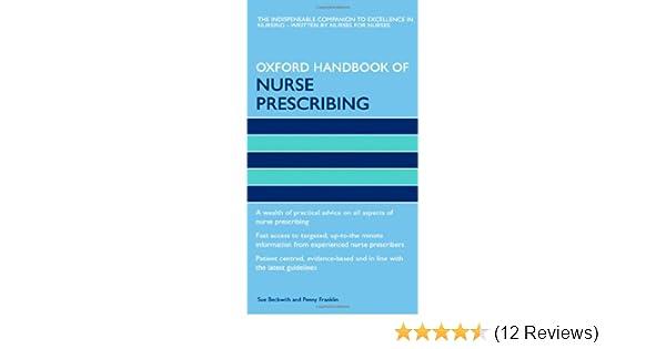 oxford h andbook of nurse prescribing beckwith sue franklin penny