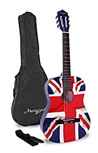 martin smith 36 inch 3 4 size classical guitar union jack musical instruments. Black Bedroom Furniture Sets. Home Design Ideas