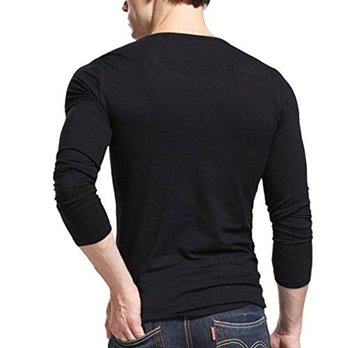 Acooe Herren Langarmshirt One size Schwarz