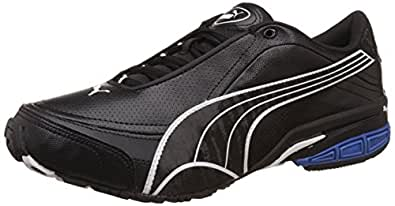 Puma Men's Tazon III DP Black, White and Olympian Blue Mesh Running Shoes - 11 UK /India(46EU)