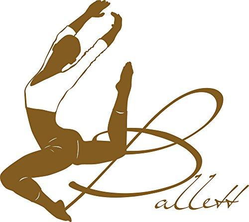 GRAZDesign Wandsticker Kinderzimmer Mädchen Tanzen Ballerina - Spielzimmer Deko Tänzerin Ballettstudio - Wandtattoo Kinderzimmer Mädchen Tanzschule / 34x30cm / 730068_30_091 (Violett 091)