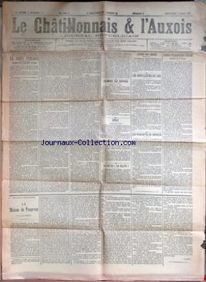 CHATILLONNAIS ET L'AUXOIS (LE) [No 19] du 07/03/1928