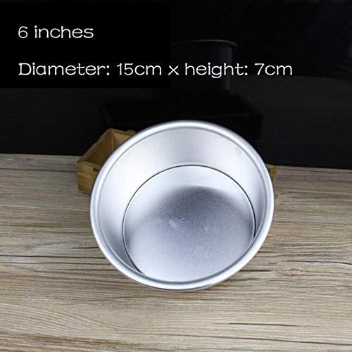 SULUO 1 stücke 2/4/6/7/8 Zoll aluminiumlegierung antihaft runde Kuchen backform pan backformen Werkzeug DIY runde kuchenform, 6 Zoll (8-zoll-kuchen Pan Set Von 2)