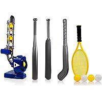 Dimple Power-Pro-4-IN-1 da Baseball con visiera Pitching lavatrice, angolatura regolabile, Perfect Sports Training-Brocca per 4 giochi, Tennis, Baseball, Cricket, da Hockey