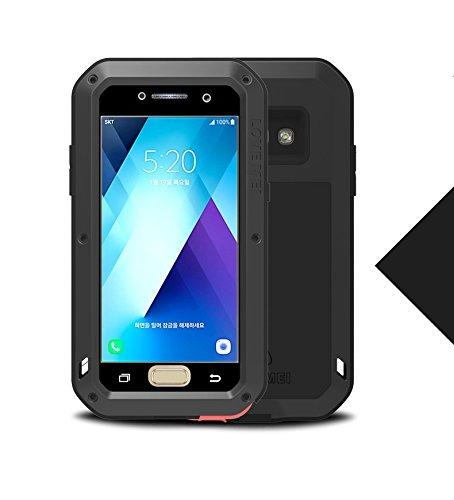LOVE MEI Samsung Galaxy A520 Impermeabile Custodia, Antiurto Impermeabile Polvere/sporcizia/Neve Prova in Alluminio Gorilla Vetro Cover per Samsung Galaxy A520 / A5 2017 Version-Nero