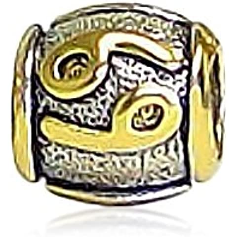 Bling Jewelry Oro Vermeil Sterling Silver zodiacale Cancro Bead