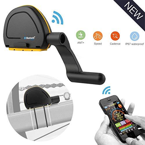 leegoal Sensor de Velocidad de Bicicleta con GPS, Bluetooth 4,0 & Ant...
