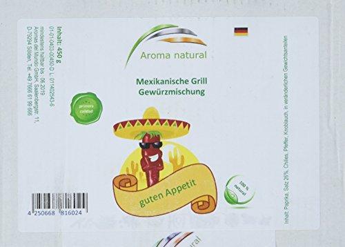 Aroma natural Mexikanische Grill Gewürzmischung 450 g, 1er Pack (1 x 450 g) Gaucho Steak