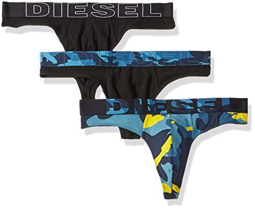 Diesel Herren 3 Pack Bold Thong Underwear Unterwäsche, blau/schwarz, Small