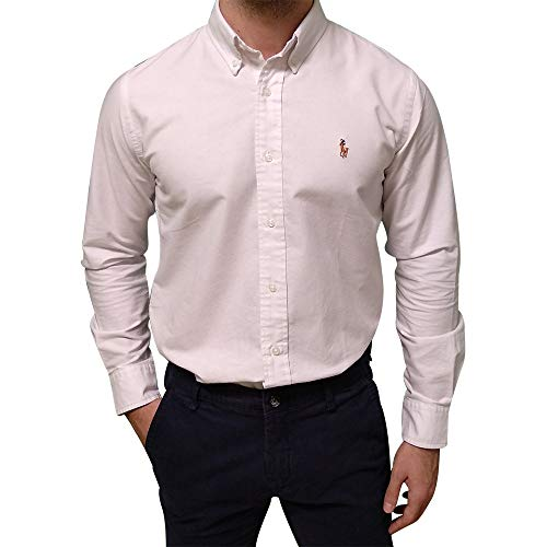 Ralph Lauren Oxford Shirt Slim Fit (XL, White)